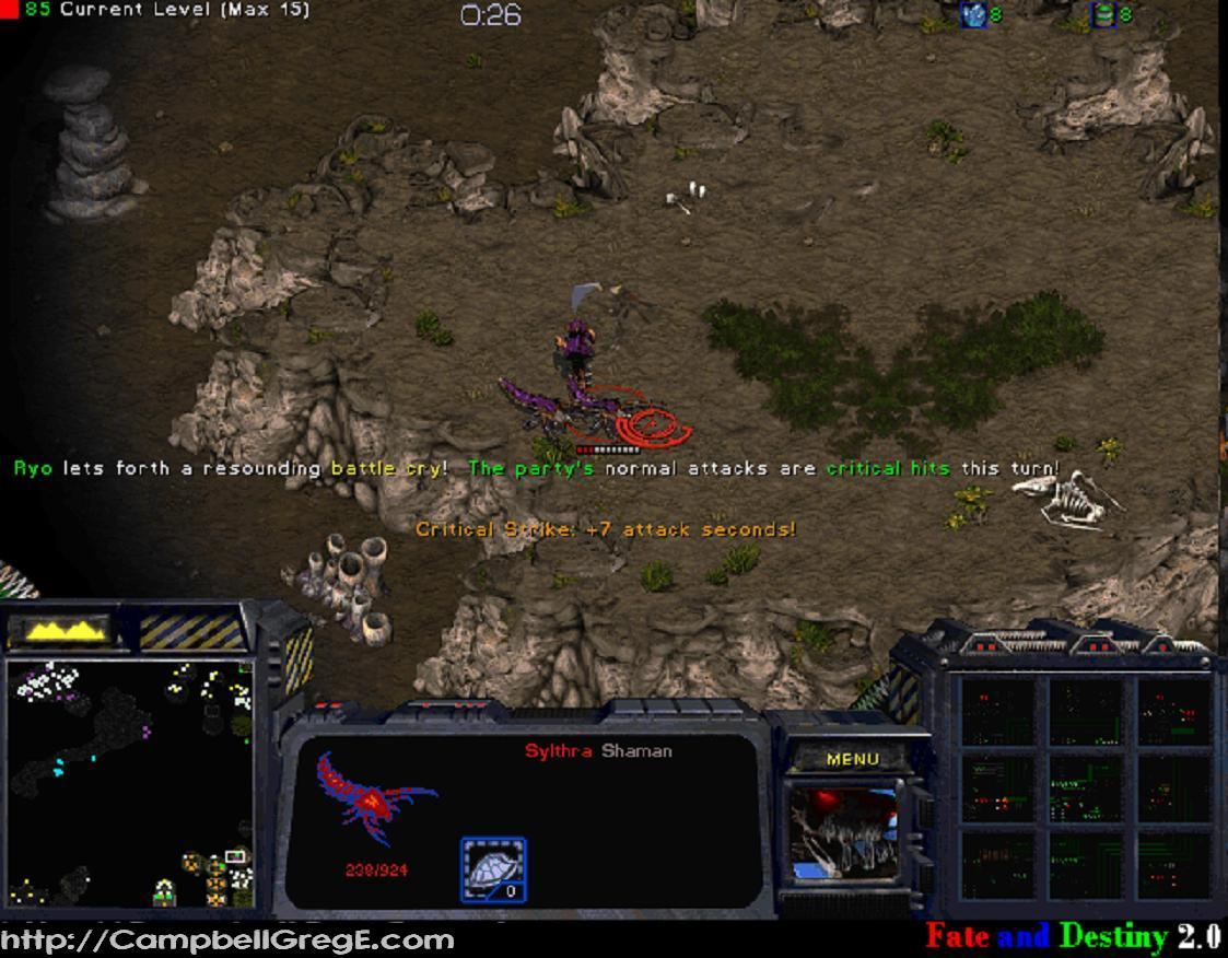 Fate and destiny is a turn based rpg for starcraft brood war version