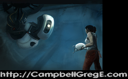 GLaDOS and Chell